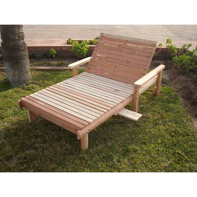 Henry Wheel Beach Wide Chaise Lounge Finish: Clear