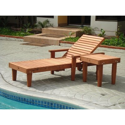 Thibeault Rustic Wood Chaise Lounge Finish: Super Deck