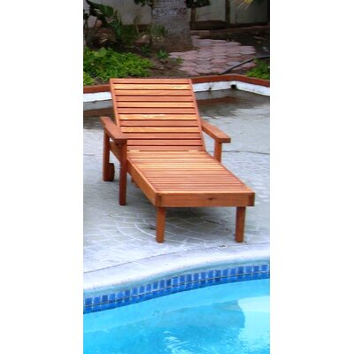 Thibeault Solid Wood Chaise Lounge Finish: Super Deck