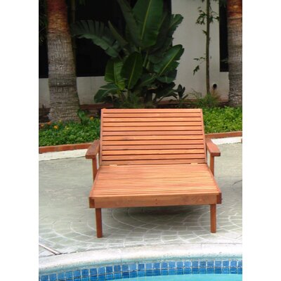 Thibeault Wood Wide Chaise Lounge Finish: Super Deck