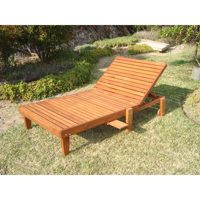 Thibeault Wheel Wide Chaise Lounge Finish: Mahogany