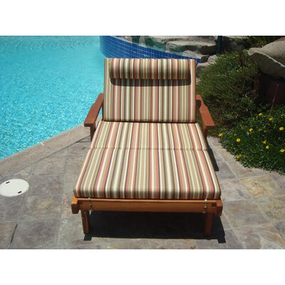 Thibeault Wood Wide Chaise Lounge with Arms Finish: Super Deck
