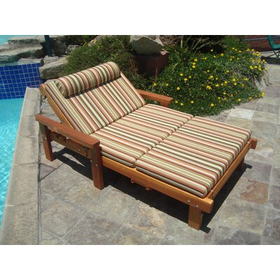 Thibeault Wheel Wide Chaise Lounge with Arms Finish: Super Deck