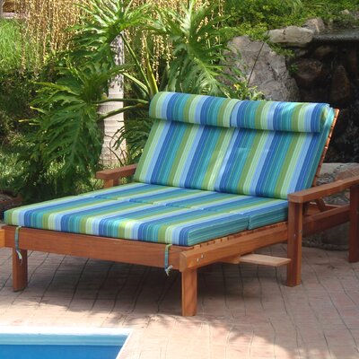 Henry Rustic Beach Double Chaise Lounge Finish: Super Deck