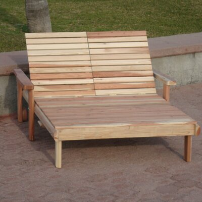 Henry Beach Double Wood Chaise Lounge Finish: Mahogany