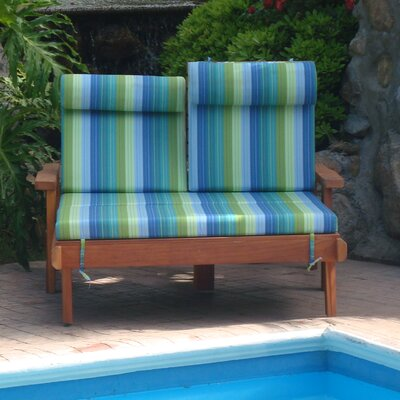 Henry Rustic Beach Double Wood Chaise Lounge Finish: Super Deck