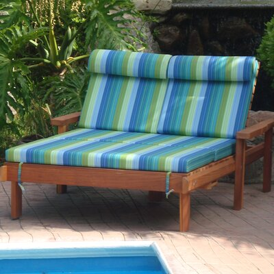 Henry Wheel Beach Double Chaise Lounge Finish: Super Deck