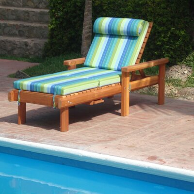 Henry Beach Single Chaise Lounge Finish: Super Deck