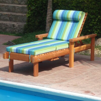 Henry Beach Chaise Lounge Finish: Super Deck