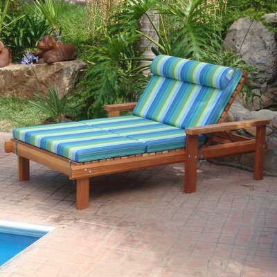 Henry Rustic Beach Wide Wood Chaise Lounge Finish: Super Deck