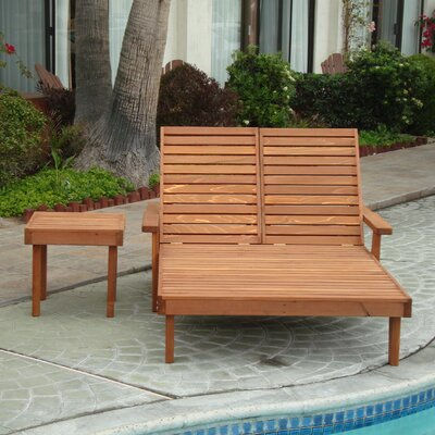 Varda Rustic Double Chaise Lounge Finish: Mahogany