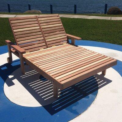 Varda Wood Double Chaise Lounge 112 Item Photo