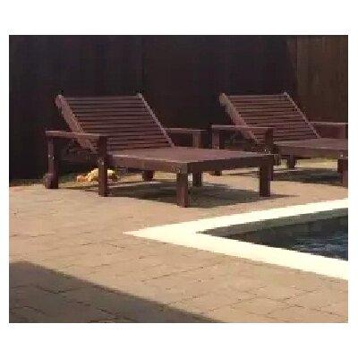 Thibeault Rustic Wood Wide Chaise Lounge Finish: Mahogany