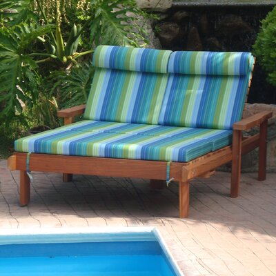 Gerome Rustic Wood Double Chaise Lounge Finish: Super Deck