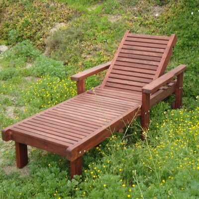 Varda Rustic Chaise Lounge Finish: Mahogany