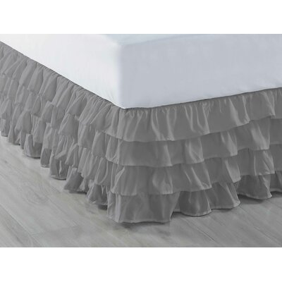Ruffled Bed Skirt Color: Grey, Size: Queen