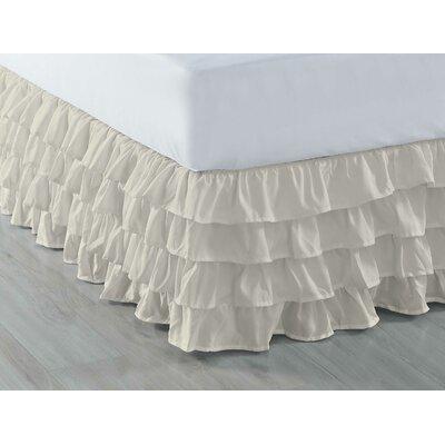 Ruffled Bed Skirt Color: Ivory, Size: Full