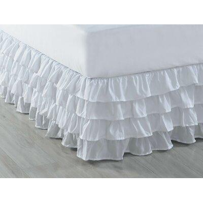 Ruffled Bed Skirt Color: White, Size: Full