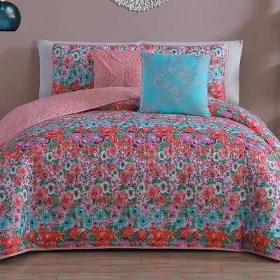 Juliette 5 Piece Quilt Set Size: Queen