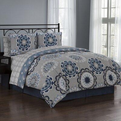 Elsa 8 Piece Reversible Bed in a Bag Set Size: King, Color: Blue