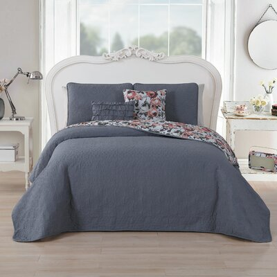 Murier 5 Piece Reversible Quilt Set Size: Queen