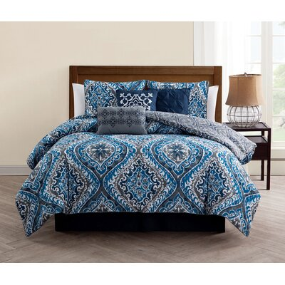 Jackston 7 Piece Reversible Comforter Set Size: King