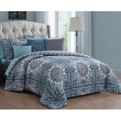 Cilla 10 Piece Reversible Bed-in-a-Bag Set Size: King