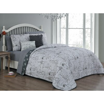 Hoch 9 Piece Reversible Quilt Set Size: King