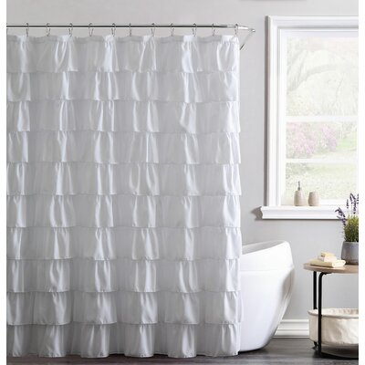 Alauda Shower Curtain Color: White