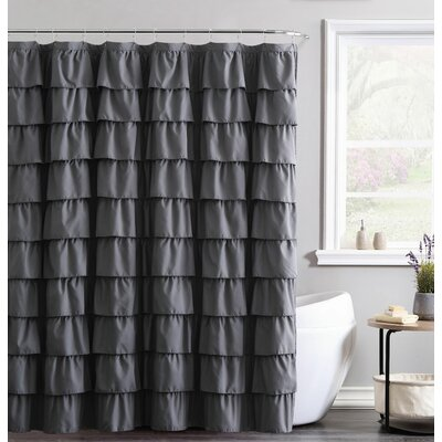 Alauda Shower Curtain Color: Gray