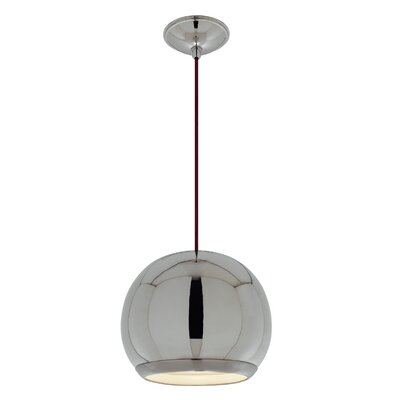 Eye 1-Light Globe Pendant Finish: Polished Nickel