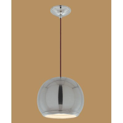 Eye 1-Light Globe Pendant Finish: Brushed Nickel