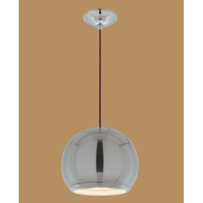 Eye 1-Light Globe Pendant Finish: Brushed Nickel