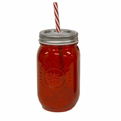 16 oz. Mason Jar Color: Red ES-33669-00