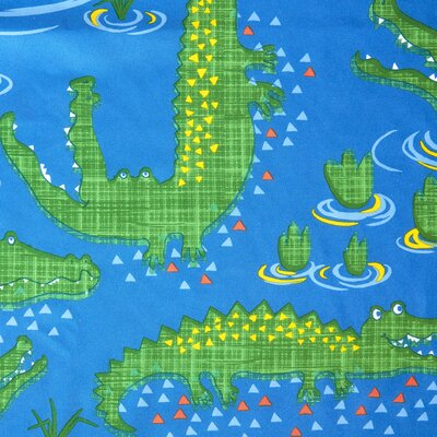 Kyle the Crocodile Printed Shower Curtain