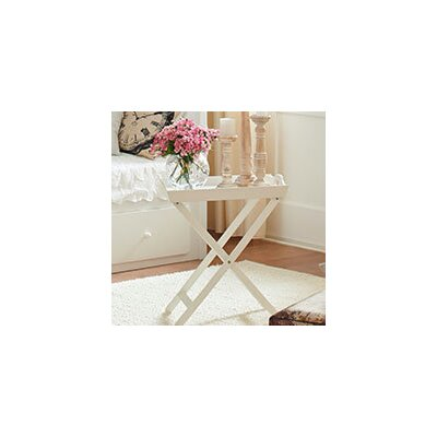 Country End Table Color: White