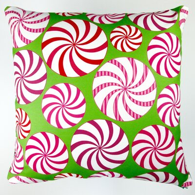 Christmas Field of Peppermint Candy Throw Pillow
