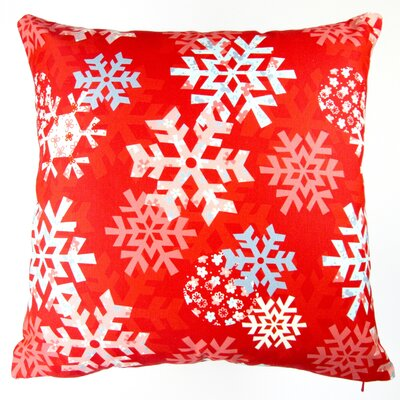 Christmas Snowflakes Throw Pillow Cover