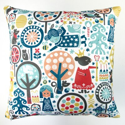 Christmas Nutcracker Winter Forest Throw Pillow