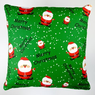 Christmas Merry Christmas Santa Claus Throw Pillow Cover