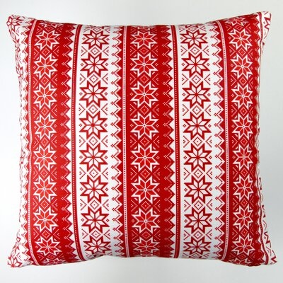 Christmas Stars Stripes Throw Pillow