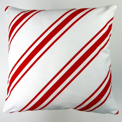 Christmas Candy Cane Stripes Throw Pillow Cover