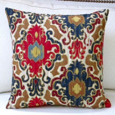 Toroli Venetian Antique Indoor Cotton Throw Pillow Color: Jewel
