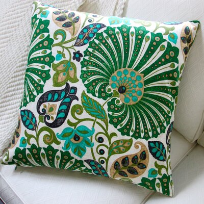 Floral Sateen Cotton Throw Pillow