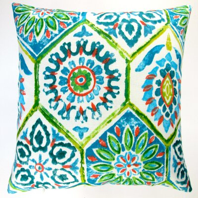 Modern Abstract Geometric Caribbean Beach Indoor/Outdoor Throw Pillow