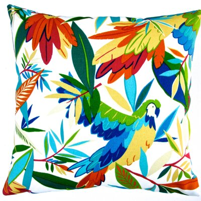 Kids Colorful Tropical Birds Indoor/Outdoor Pillow Cover