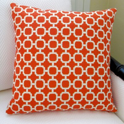 Hockley Geometric Modern Outdoor Pillow Cover Color: Mandarin