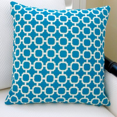 Hockley Geometric Modern Outdoor Throw Pillow Color: Teal