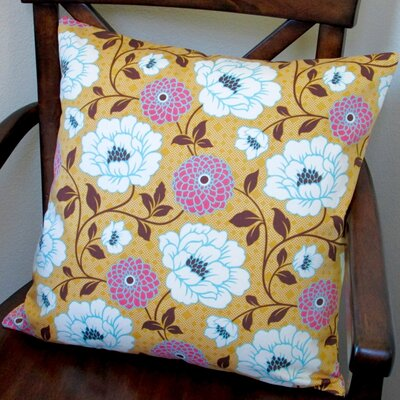 Bungalow Dahlia Flowers Modern Indoor Pillow Cover Color: Honey Orange