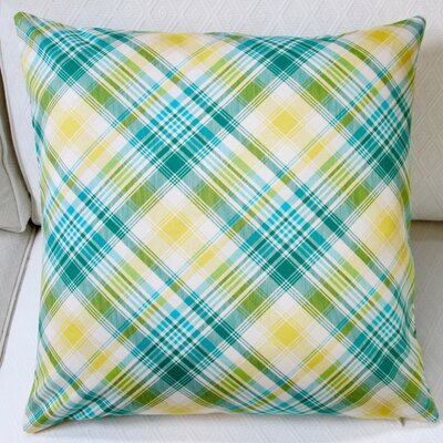 Notting Hill Plaid Tartan Indoor Pillow Cover Color: Aquamarine